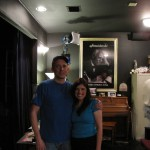 "Scott Gerard (camera operator) & Rachel Galvin on set of ""Lost Angel"""